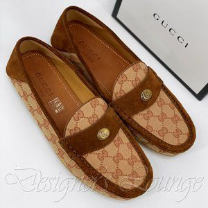NIB GUCCI Kanye GG Canvas Bee Loafer Moccasin Shoe